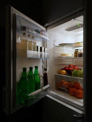 refrigerator open food