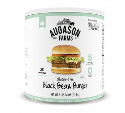 augason farms black bean burger