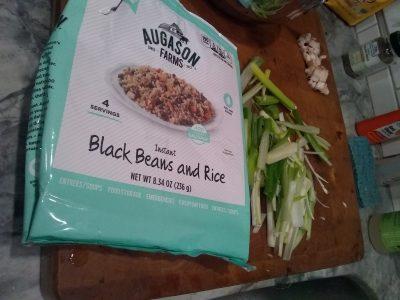 augason farms black beans rice packaging