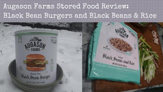 Augason Farms Review: Black Bean Burgers and Black Beans & Rice