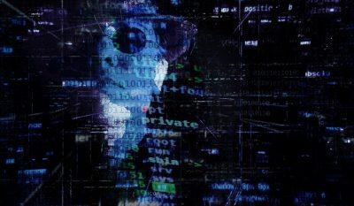 ransomware computer binary code hacker