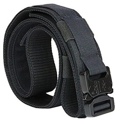 Aiduy Tactical Belt Heavy Duty Waist Belt Adjustable Military Style Nylon Belts with Metal Buckle Molle