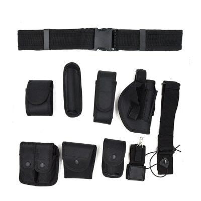 NKTM Tactical Waist Belt Police Security Guard Equipment Duty Belt Set for Law Enforcement