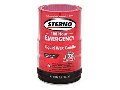 Sterno 30278 100-Hour Emergency Liquid Wax Candles