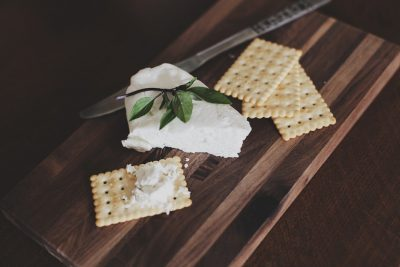 cracker with spread