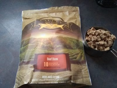 valley food storage freeze dried beef cubes review