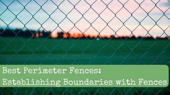 Best Perimeter Fences: Establishing Boundaries with Fences