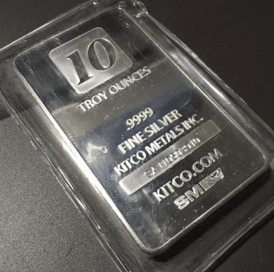 kitco silver bar
