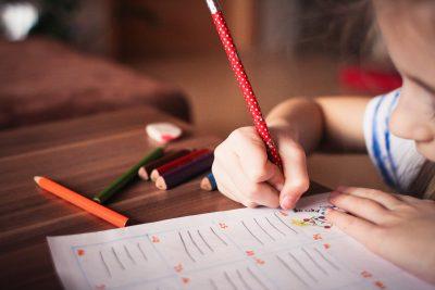 girl writing pencil