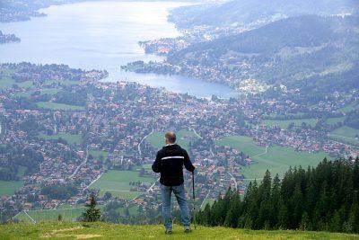 hiker man mountain