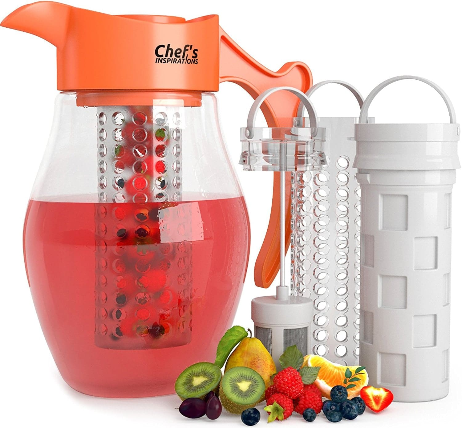 Chef's INSPIRATIONS 3 Core Infusion Water Pitcher. 3 Quart (2.8 Liters).