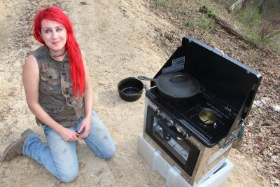 camp chef oven cooking outdoors