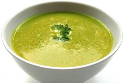 bowl food green soup