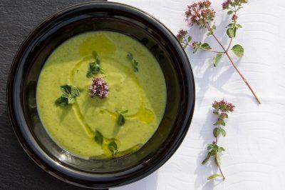 green soup bowl