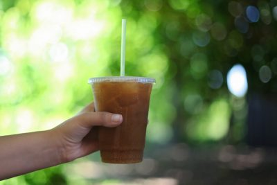 iced tea in forest