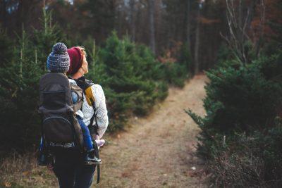 kid woman trail