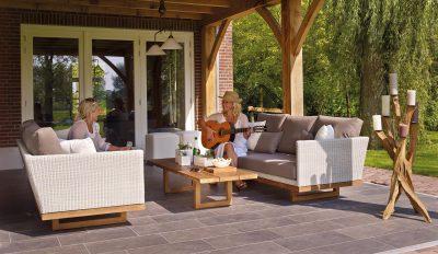 patio outside garden summer guitar