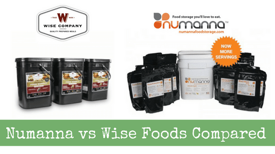 Numanna vs Wise Foods Compared