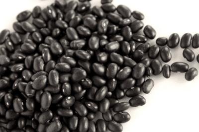 black beans pile