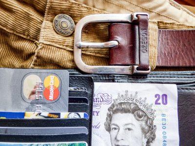 cash credit card belt