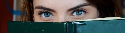 eyes woman books