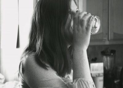 girl drinking glass
