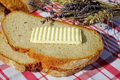 butter on bread
