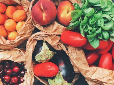 fruits vegetables in sack
