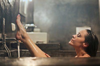 girl bath showering