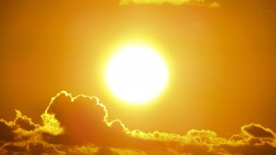 sun glowing hot
