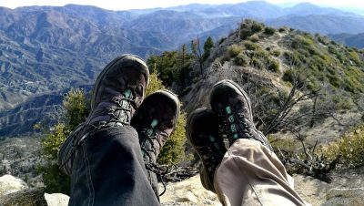 hiking shoes mountains