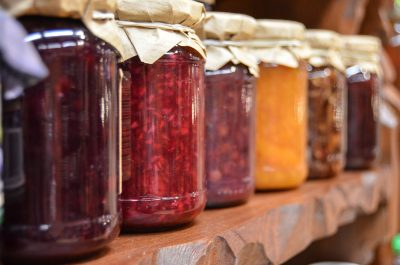 jam preparation glass jar