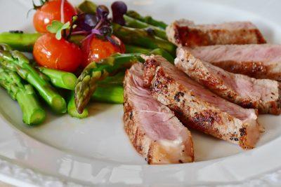 asparagus plant steak meal
