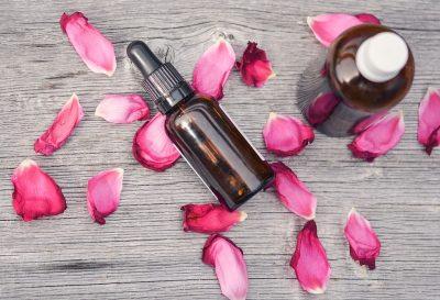 essential oils rose petals