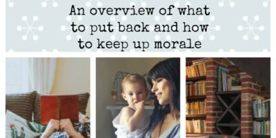 Normality During An Extended Emergency : An overview of what to put back and how to keep up morale