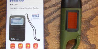 Small Gear Review: Meco Flashlight and Kaito KA210 Radio