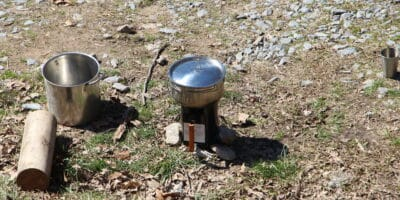 How To Make A Rocket Stove From A BBQ Charcoal Chimney Starter