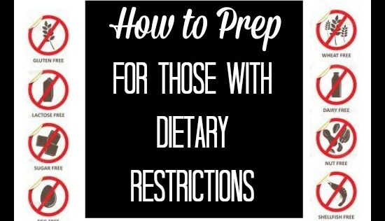 How to Prep for Those with Dietary Restrictions